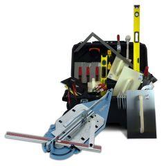 Sigma Lærlingesæt med eller uden fliseskærer og værktøjskasse   Indeholder de mest hyppige værktøjer til start på mureruddannelsen.